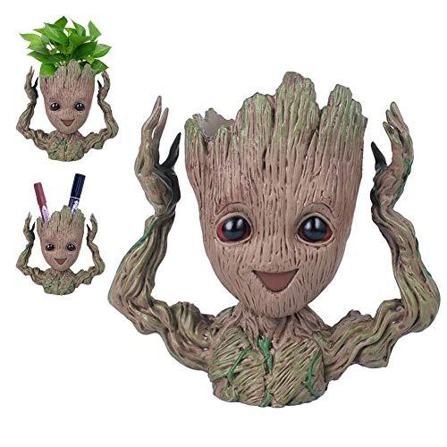 Baby-Groot Blumentopf/Stifthalter - Innovative Action-Figur aus Filmklassiker I AM Groot, Für Home Decorations & aquariumpflanzen deko,Kreativer Geschenkefür Erwachseneund Kinder(Happay)
