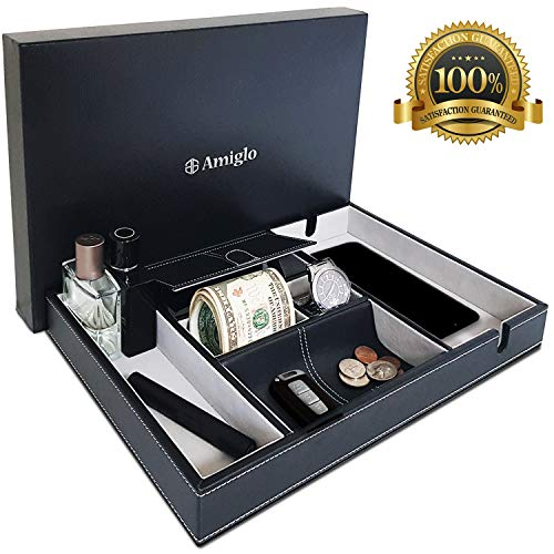 Amiglo Valet Tray Nightstand Org...