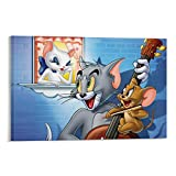 DRAGON VINES Póster de Tom y Jerry de la Universidad de Tom y Jerry, cuadro en lienzo, para comedor, dormitorio, cuarto de baño, 40 x 60 cm