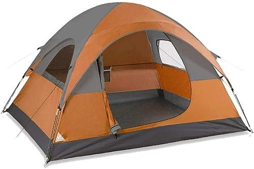 Tente de Camping Famille extérieur 3-4 Personnes Double comptes intérieur et extérieur Double Porte Camping Tente de Pluie