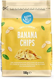 Marchio Amazon - Happy Belly Chips di banane , 7 x 100 g