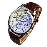 Trifycore Blue Ray reloj de cristal reloj de los hombres del estilo del negocio tres ojos del reloj robusto de cuarzo analógico reloj de pulsera de lujo