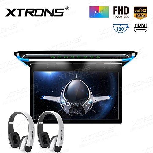 XTRONS® CM156HD+DWH006x2 Écran TFT numérique ultra fin 1080p pour voiture Montage sur toit