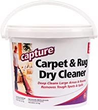 Capture Carpet Dry Cleaner Powder 4 lb - Deodorize Allergens, Stain Smell Moisture from Rug Furniture Clothes and Fabric, ...