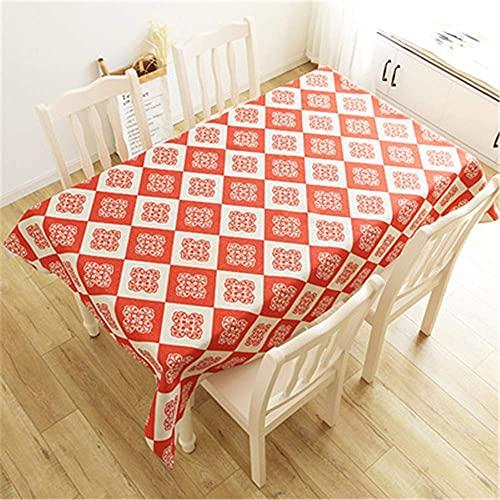 Wohnzimmer-Accessoires Baumwoll-Leinen-Tischdecke Wohnzimmer Esszimmer Tischdecke Abdecktuch