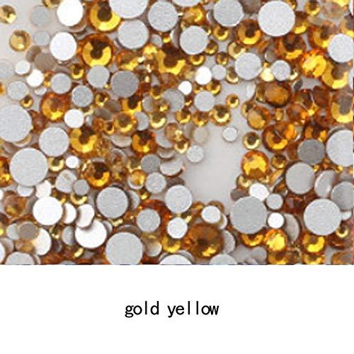 AAAAA Topkwaliteit Crystal Non Hotfix Strass Super Helder Glas Strass 3D Nail Art Decoratie DIY Jurk Kleding, goud, SS16 1440pcs