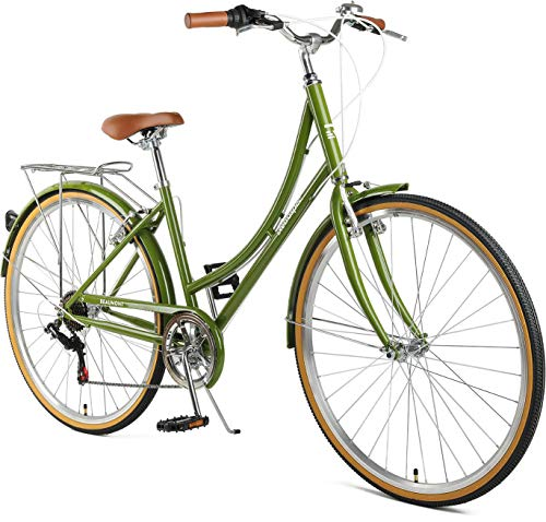 Read About Retrospec Beaumont-7 Seven Speed Lady's Urban City Commuter Bike Olive 44cm/Medium