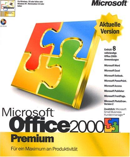Microsoft Office 2000 Premium SR1 Bürolösung: Tx\\TK\\DB\\Pr\\PIM\\DTP\\Bild\\Web D