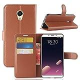 Litao-Case CN Case for meizu M6S Case Flip leather + TPU