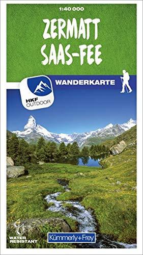 Zermatt - Saas-Fee 49 Wanderkarte 1:40 000 matt laminiert (Kümmerly+Frey Wanderkarten)