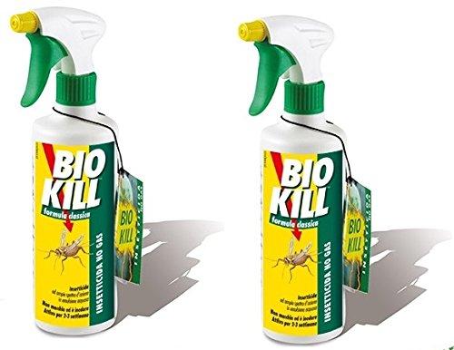 Bio Kill–Insecticida spray Formula Classic 2paquetes de 500ml ● eficaz contra todos los insectos a sangre fría ● Spray ● contra moscas ● antiácaros ● hormigas ● cucarachas ● mosquitos