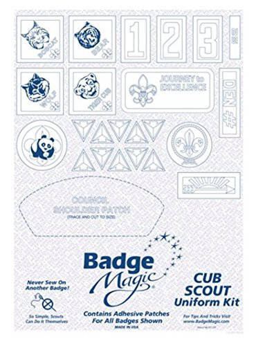 Badge Magic - Peel and Stick Badge Kit for all Cub Scout Ranks