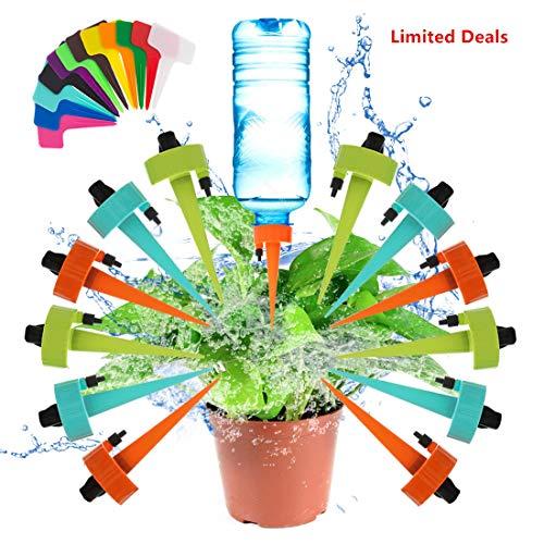 AURUZA Automatisch Bewässerung Set 12 Stück Einstellbar Bewässerungssystem Zimmerpflanze zur Pflanzen
