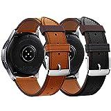 Syxinn Compatible con Correa de Reloj Gear S3 Frontier/Classic/Galaxy Watch 46mm Cuero Banda Pulseras de Repuesto, 22mm Cuero Real Pulsera para Moto 360 2nd Gen 46mm/Huawei Watch GT/GT 2 46mm