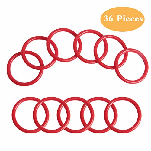 SBYURE 36 Pieces Plastic Toss Rings Toy Cubby Ring Toss Ring-a-Bottle for Kids Ring Toss Game,Speed and Agility Training Games,Speed and Agility Training Games,2.3 inch