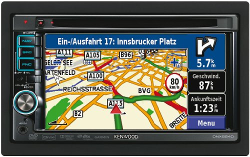 Kenwood DNX 5260 BT Moniceiver mit All-In-One Navigationssystem (15,2 cm / 6,1 Zoll Doppel-DIN Monitor, DVD Player, DivX-zertifiziert, USB) schwarz