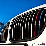 Wandkings Adesivi per griglia anteriore - RIFLETTENTI - 24 pezzi, nel set 4 colori diversi catarifrangenti (blu scuro, rosso, bianco argento, azzurro) - set di adesivi per auto