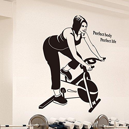 HCCY Pvc muur papier gym school afslanken oefening en sport glas in lood raamdecoratie posters fitness spinning sticker