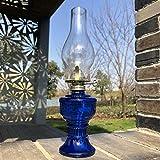 GCMJ Lamparas De Aceite Candil Antiguo Decoracion Marinera Camping Quinque Iluminación de Interior (Color : Blue)