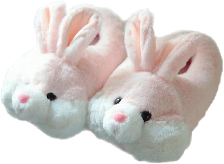 GaraTia Women Plush Indoor Rabbit Slipper Super Soft Warm Winter Booties Pink Bunny 5.5-6.5 M US