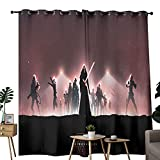 Cortinas opacas con diseño de estrella de la guerra de los personajes de Kylo Cuajo minimalista para cortinas decorativas en el dormitorio de los niños de 84 x 54 pulgadas