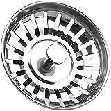 Tappo filtro per lavello da cucina Tomario Acciaio inossidabile addensato per lavello da cucina, diametro del foro 78 mm 84mm (78,1 PCS)