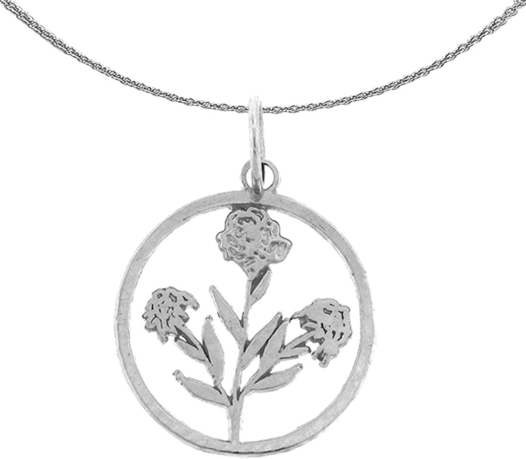 Jewels Obsession Gold Flower Cheap super special price High material Necklace White Bush Rose 14K