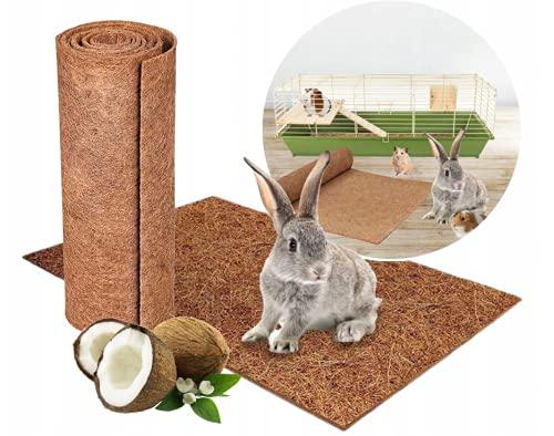 Lot de 3 tapis pour rongeurs - 100 % fibres de coco - 50 x 50 cm - 7 mm - Convient comme couverture de sol pour lapins, cochons d'Inde, hamsters, dègues, rats et autres rongeurs