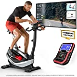 Sportstech ESX550 Premium Design 2020 Ergometro | Marchio di qualità Tedesca | Eventi Video e App Multiutente | Freno Magnetico + 21kg inerzia | Fitness Bike Esercizio Indoor Silenzioso (ESX550)