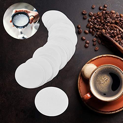 OLRWSLG 400 Stück Kaffeemaschine Ersatz Filter Papier Runde Kaffee Filterpapier Kaffeemaschine Filter für Kaffeemaschinen oder Kaffeetasse (Durchmesser 60mm)