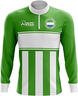 Sierra Leone Concept Football Half Zip Midlayer Top (Green-White)