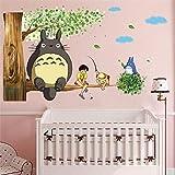 Etiqueta Engomada De La Pared Del Tema De Los Juegos De Dibujos Animados Etiqueta Engomada De La Pared De Totoro 9 Herramientas De Estilo Y Sala De Tamaño 2