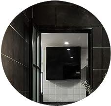 YUNTAO Simple Bright Mirror Led Round Bathroom Toilet Light Mirror, Hotel Intelligent Anti-Fog Warm Light+Touch White Ligh...