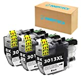 InnerTeck 3 Black Replacement for Brother MFC J497DW J491DW LC3013 XL 3013 LC3013BK Black Ink Cartridges Work with Brother MFC-J491DW MFC-J497DW MFC-J690DW MFC-J895DW Printer