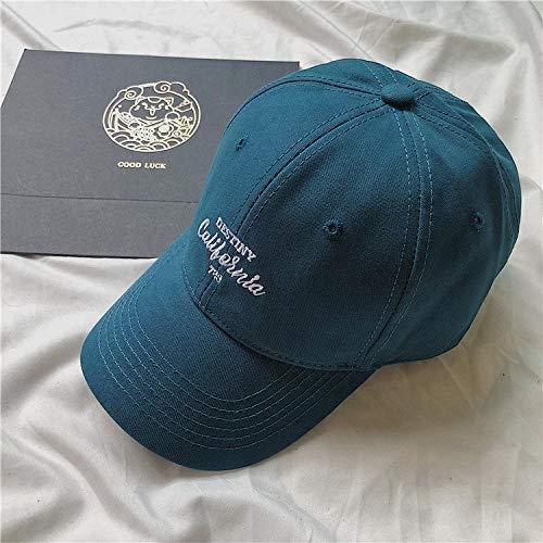 Cap Fashion Letter Stickerei Baseball Cap Frauen Männer Snapback Caps Casual Hip Hop Sport Outdoor Cap Baumwolle Sonnenschirm Peak Hat M56-58Cm Blau