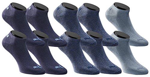 PUMA Sneakers Socken Sportsocken 10-Paar-Pack Unisex - denim - Gr. 39-42