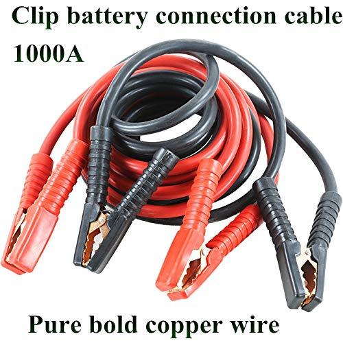 12V 500A Cables de la batería de emergencia CAPA AUTOMÓVIL AUTOMÓVIL CABLE DESPUESTO ALAMBRE CAMBIO CAMBLE CABLE DE LONGITUD 234M 1000A START STARTER (Color : 3 meters)