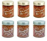 montalbano bruschette miste piccanti 6 vasi - 780 gr