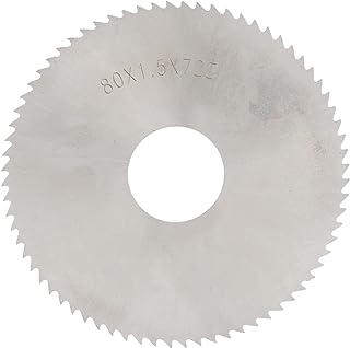 Cirkelsågblad 80 x 1,5 mm snabbarbetsstål 72 tänder fräsning skär skiva lämplig för cirkelsågar, geringssåg, bordscirkelså...