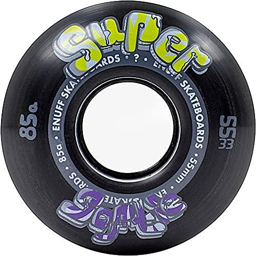 Enuff Skateboards Super Softie Wheels Ruedas, Adultos Unisex, Black (Negro), 53 mm