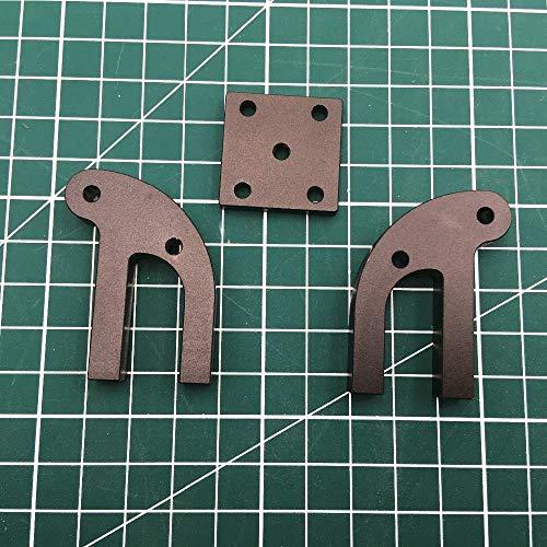 WNJ-TOL 3D-printer 1 set delen zwart geanodiseerd aluminium voor Anet A8 ASSE Y spanner Metall Anet A8 Upgrade Y-Tendictor