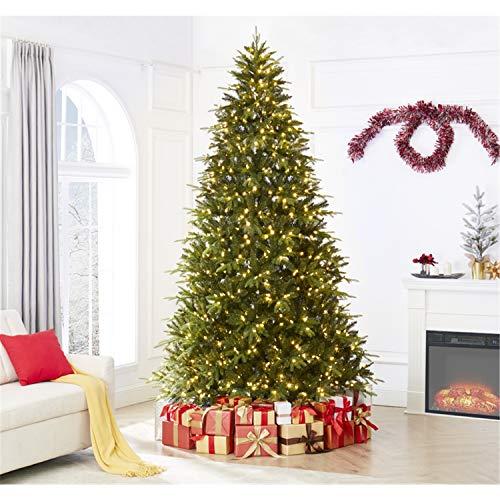 Naomi Home Traditional Christmas Tree with Lights Green/9 Ft