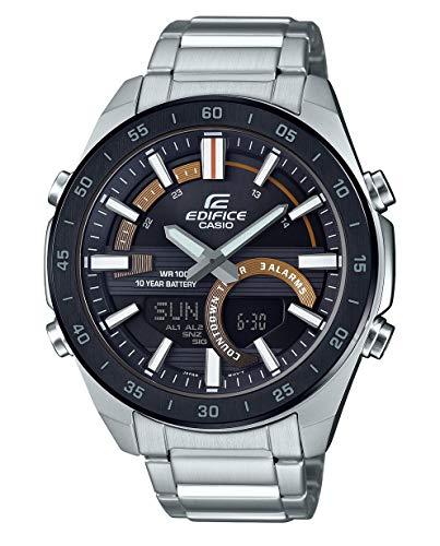CASIO Herren Analog – Digital Quarz Uhr mit Edelstahl Armband ERA-120DB-1BVEF