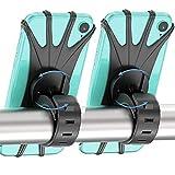 2 Paquetes Soporte Movil Bici, 360° Rotación Soporte Movil Moto Bicicleta, Ajustable Universal Silicona Teléfono Manillar, Compatible para iPhone X/XR/XS MAX, para Samsung Galaxy, Huawei 4'-6.5'