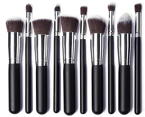MPKHNM 10 5 big 5 small makeup brushes 10 pieces set of platinum black silver black silver