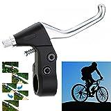 QHJ - Palanca de freno de mano de aleación de aluminio para bicicleta de mujer y hombre, negro, as show