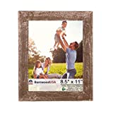 BarnwoodUSA Rustic 8.5 by 11 Inch Picture Frame