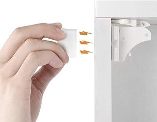 Cerraduras magnéticas para gabinete de bebé, Blanco
