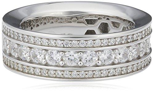 Joop! Damen-Ring 925 Silber Zirkonia weiß Gr. 53 (16.9) - JPRG90745A530