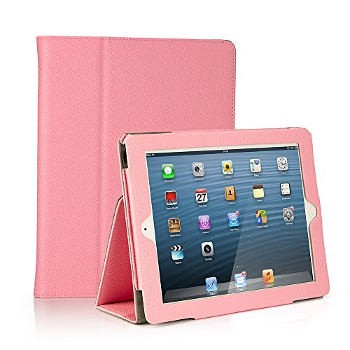 RUBAN Folio Case for iPad 2 3 4 (Old Model) 9.7 inch Tablet - [Corner Protection] Slim Fit Smart Stand Protective Cover Auto Sleep/Wake, Pink